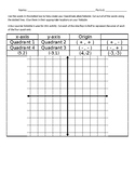 Coordinate Plane Foldable and Assessment