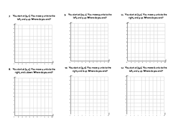 Coordinate Plane: Following Directions