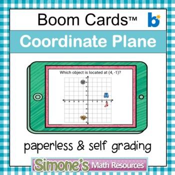 Coordinate Plane Four Quadrants Digital Interactive Boom Cards