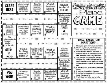 Coordinate Plane Game:  5.G.A.1: 5th Grade Math Game