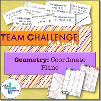 Coordinate Plane (Geometry: TEAM CHALLENGE task cards)