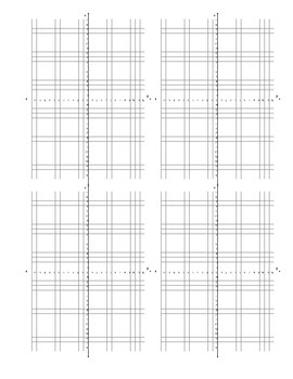 Coordinate Plane (Graph) Blanks - 4 per page