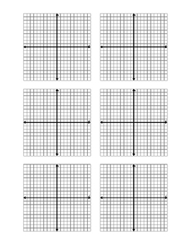 Coordinate Plane Graph Template Library for Busy Teachers