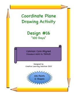 Coordinate Plane Graphing Activity: 100 Days of School