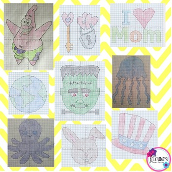 Coordinate Plane Graphing Activity Bundle! Over 25% Savings!