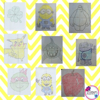 Coordinate Graphing Pictures BUNDLE