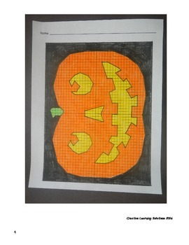 Middle School Coordinate Plane Graphing Activity: Halloween Jack-O-Lantern