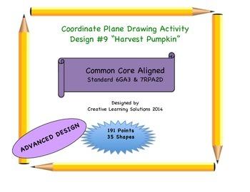 Coordinate Plane Graphing Activity: Harvest Pumpkin with Vine
