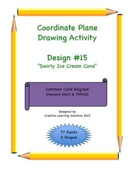 Coordinate Plane Graphing Activity: Swirly Ice Cream Cone
