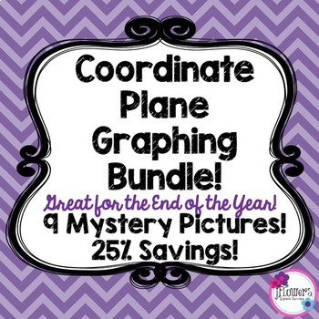 Coordinate Plane Graphing Bundle! Great for the End of the Year! 25% Savings