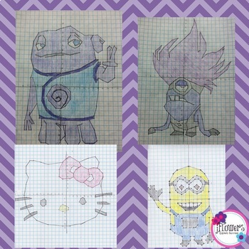 Coordinate Graphing Picture BUNDLE Great for the End of the Year