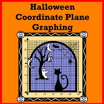 Coordinate Plane Graphing Halloween
