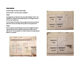 Coordinate Plane Graphing Notes-Interactive Notebook
