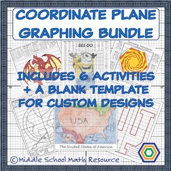 Coordinate Plane Graphing Pack - Money Saving Bundle - 6 Partner Activities