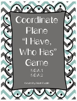 """Coordinate Plane """"I Have, Who Has?"""" Game"""