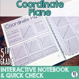 Coordinate Plane Interactive Notebook Activity & Quick Check TEKS 5.8A 5.8B