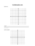 Coordinate Plane Introduction Notes