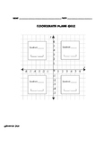 Coordinate Plane Labeling Quiz