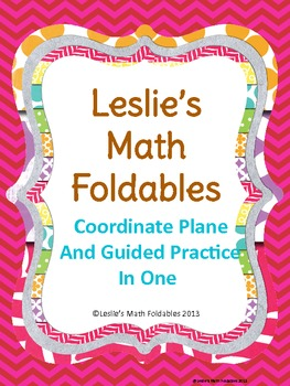 Coordinate Plane Math Foldable