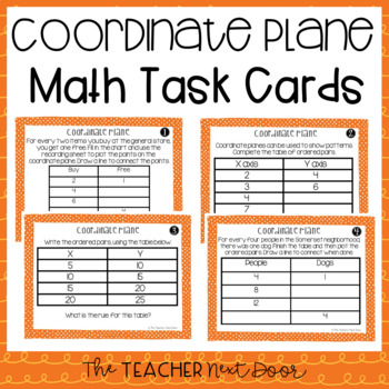 Coordinate Plane Task Cards for 5th Grade