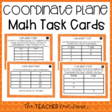 5th Grade Coordinate Plane Task Cards | Coordinate Plane Center