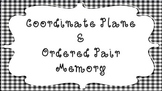 Coordinate Plane Memory--Graphing Ordered Pairs Game