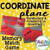 Coordinate Plane Memory Match Game