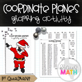 SANTA DAB: Coordinate Plane Graphing Christmas Activity! (1st Quadrant)