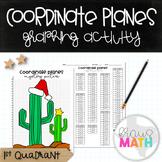 Coordinate Plane Graphing Activity: CHRISTMAS CACTUS! (1st Quadrant)