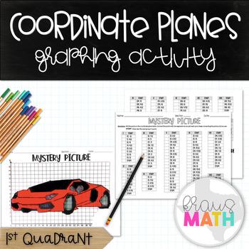 LAMBORGHINI SPORTS CAR: Coordinate Plane Mystery Picture! (Quadrant 1)