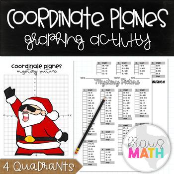 SANTA NAE NAE: Coordinate Plane Mystery Picture! (4 Quadrants)