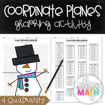 Math Holiday Activity: Coordinate Plane Graphing Activity: SNOWMAN!