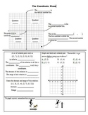 Distance Learning - Coordinate Plane Notes