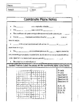 Coordinate Plane Notes