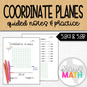 Coordinate Planes Guided Notes & Practice (Grade 5)