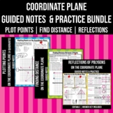 Coordinate Plane Notes and Practice Worksheets