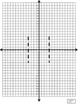 Coordinate Plane POP UP MOTHER'S DAY CARD