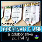Coordinate Plane Graphing Math Pennant Activity for all 4 Quadrants