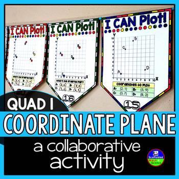 Coordinate Graphing Math Pennant Activity - QUADRANT 1
