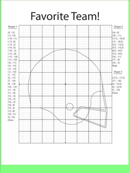 Coordinate Plane Pictures Bundle 1
