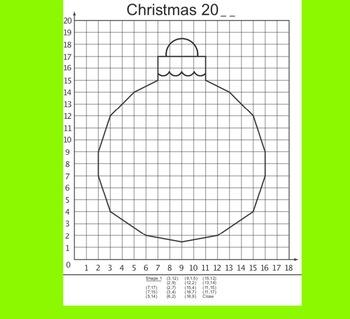 Coordinate Plane Pictures Bundle 12 (Christmas in Quadrant 1)
