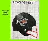 Coordinate Plane Pictures (Football Helmet)