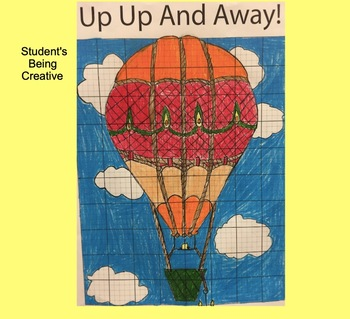 Coordinate Plane Pictures (Hot Air Balloon)