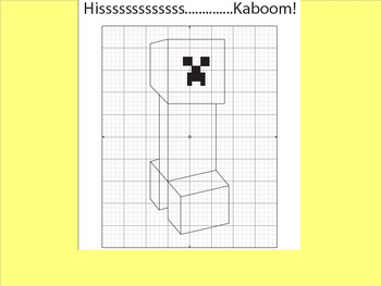 Coordinate Plane Pictures (Minecraft Creeper)