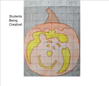 Coordinate Plane Pictures (Pumpkin)