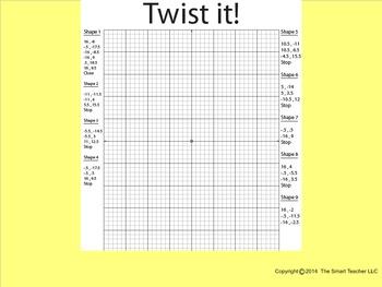 Coordinate Plane Pictures (Rubik Cube)