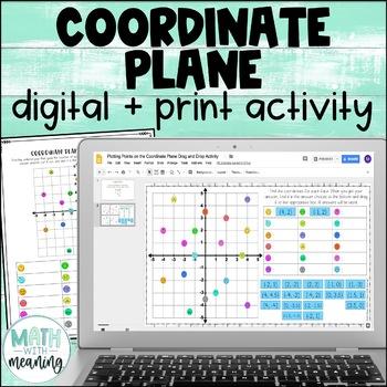 Coordinate Plane Plotting Points DIGITAL Drag and Drop Activity - Google Drive™