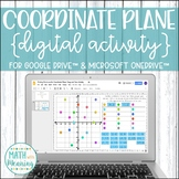 Coordinate Plane Plotting Points DIGITAL Activity for Google Distance Learning