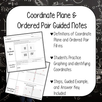 Coordinate Plane & Plotting/Reading Points on a Graph Guided Notes