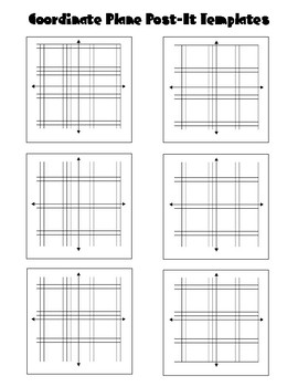 Coordinate Plane Post It Notes Template